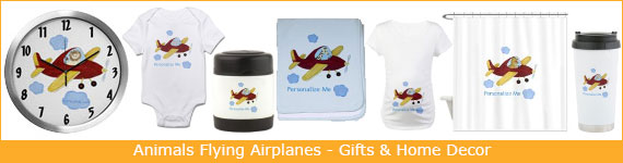 Airplane Room Decor - Animal Pilot Gifts