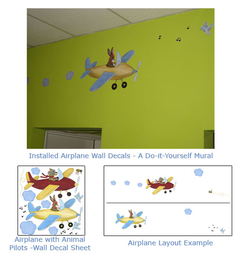 Airplane Wall Art - Decals