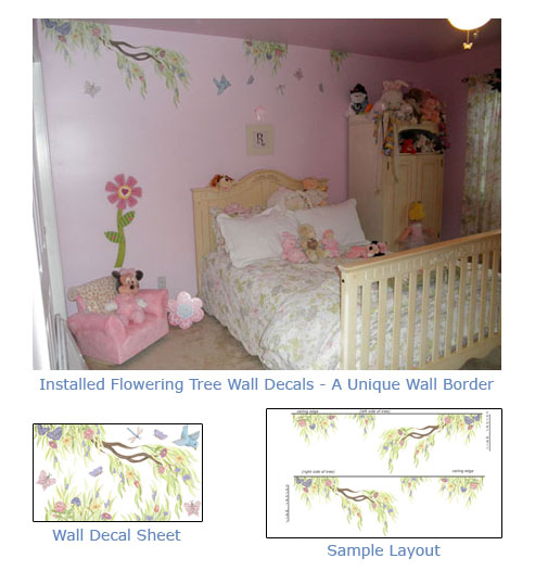 Floral Wall Border - Decals